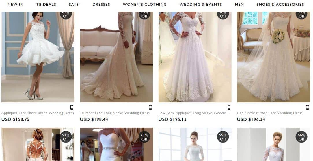 TBDress wedding dresses