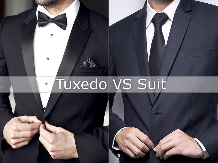 difference between tux and suit