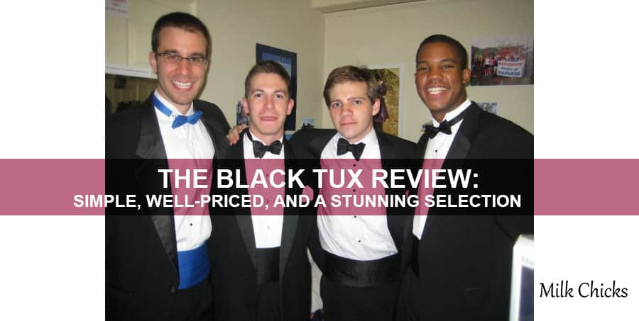 men with the black tux
