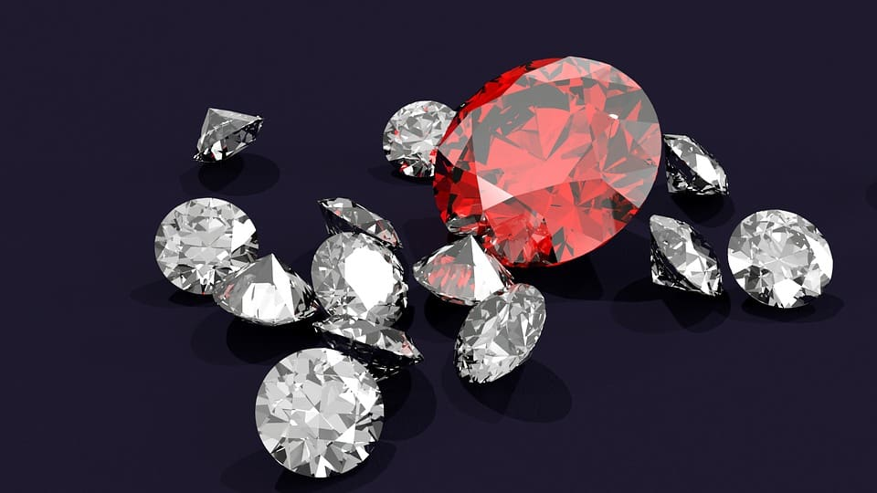 Diamonds Gem Crystal Ruby Gemstone Diamond
