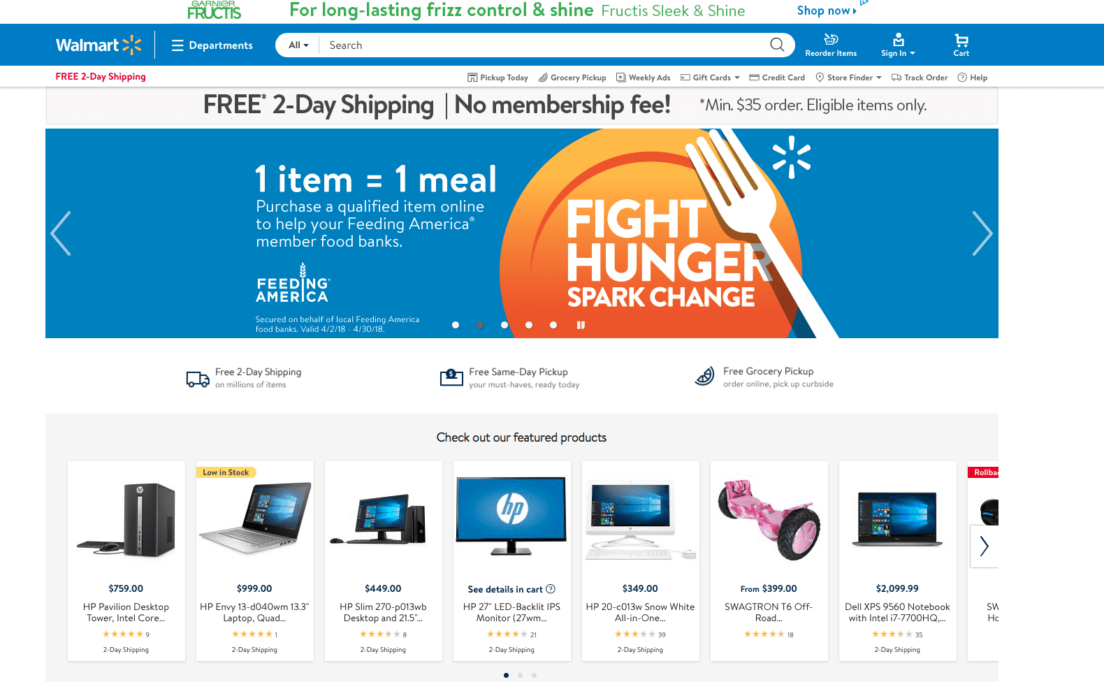 Walmart sign up page