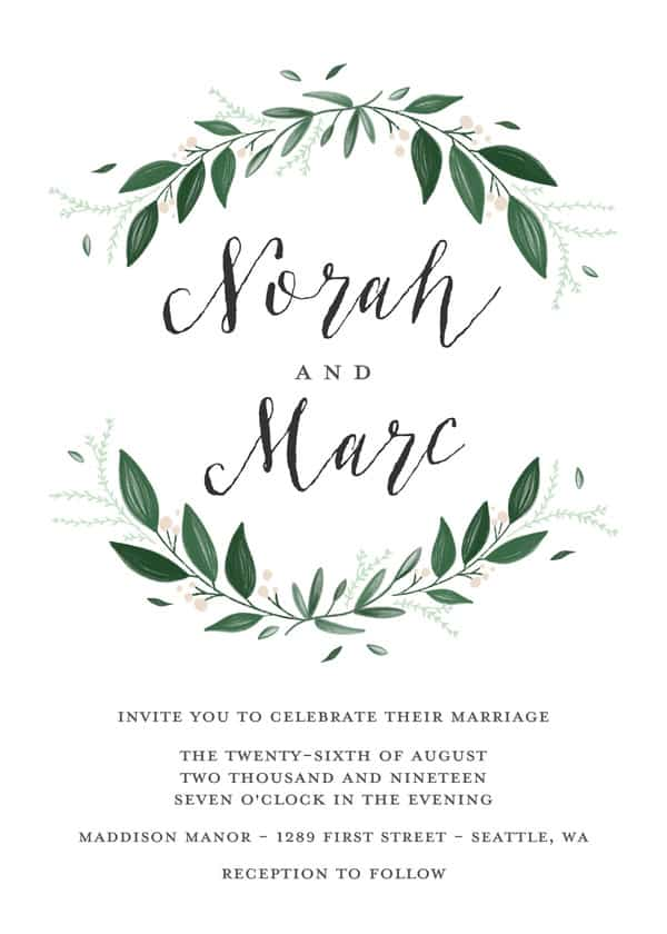 Mixbook wedding invite