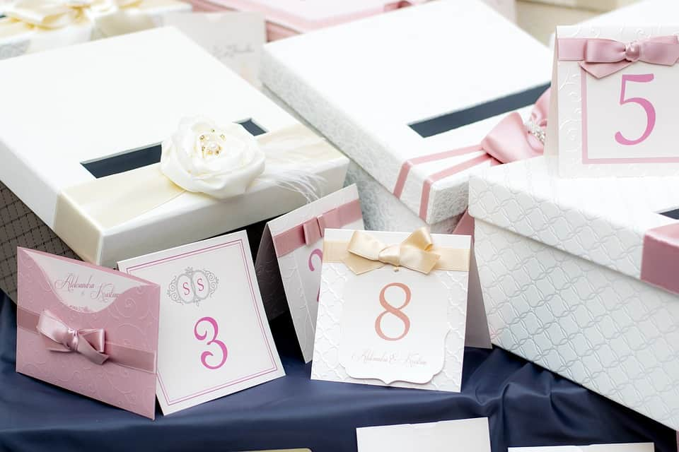 wedding gifts and invitations