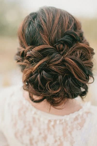 Low Chignon bridesmaid hairstyle