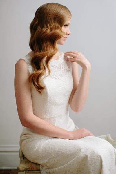 Side-Swept Waves bridesmaid hairstyle