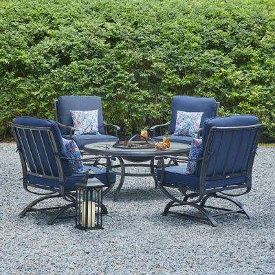 Hampton Bay Redwood Valley Collection Fire Pit Set