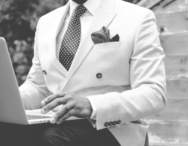 white suit wedding