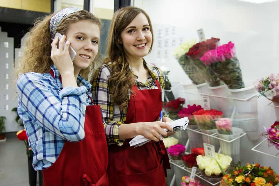 flower shop sales rep