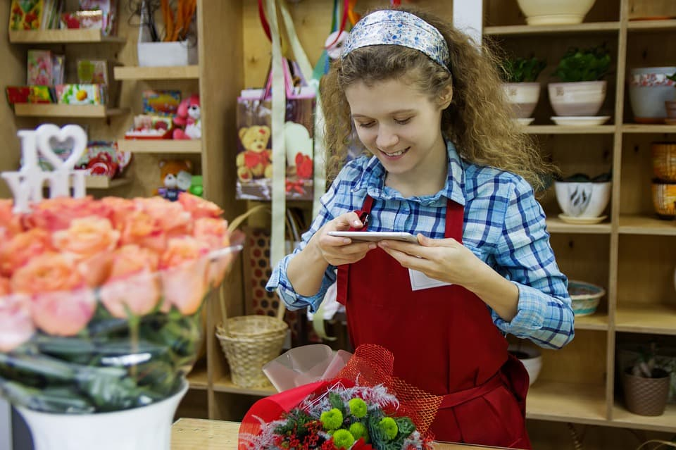 flower shop sales representative