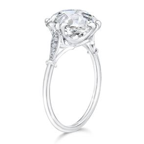 Ring Concierge Cushion Cut 3 Stone Engagement Ring