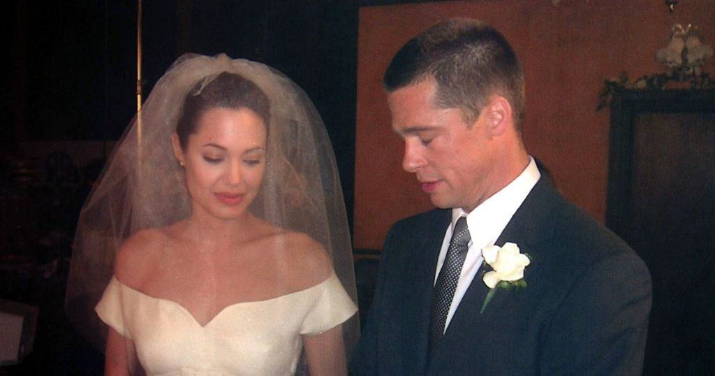 Brad Pitt and Angelina Jolie's wedding
