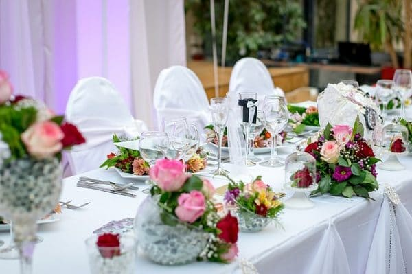 wedding dinner arrangements