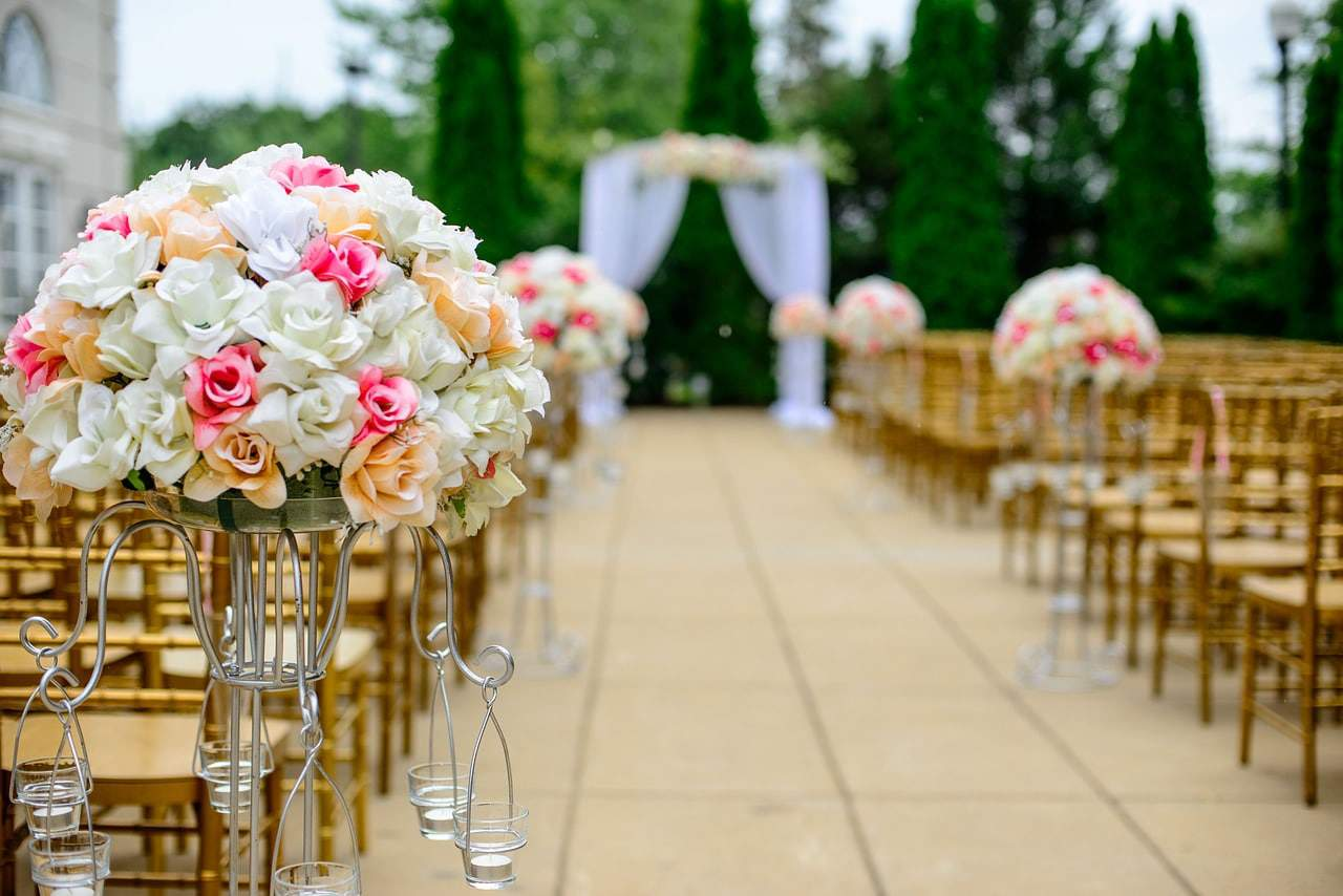 aisle of a wedding venue